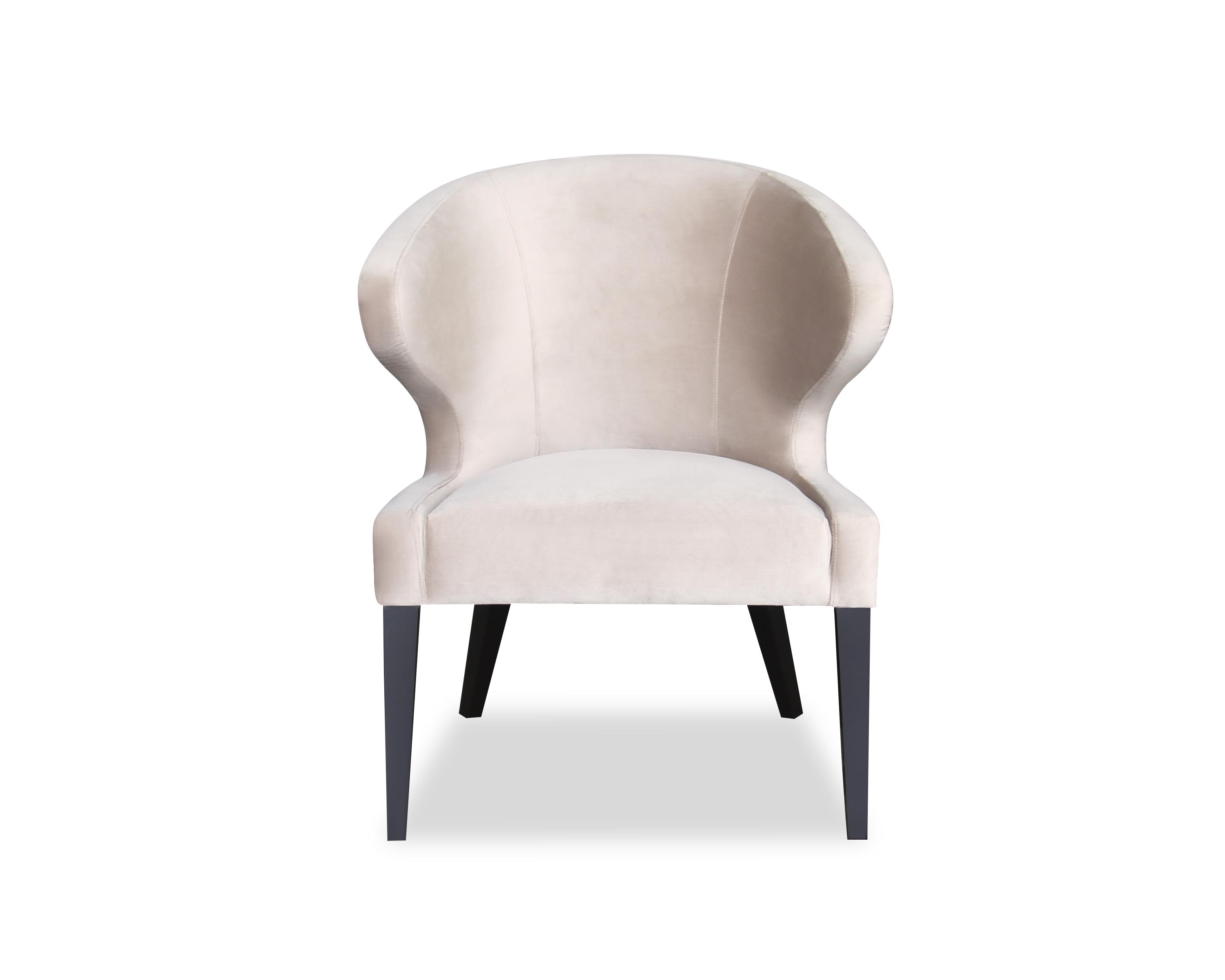 Liang & Eimil Taylor Occasional Chair Ives Mink Velvet OD-OCH-007 (2)