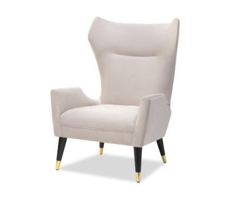 Liang & Eimil Vendome Occasional Chair Limestone Velvet BH-OCH-130 (1)