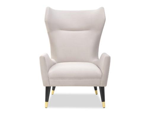 Liang & Eimil Vendome Occasional Chair Limestone Velvet BH-OCH-130 (2)