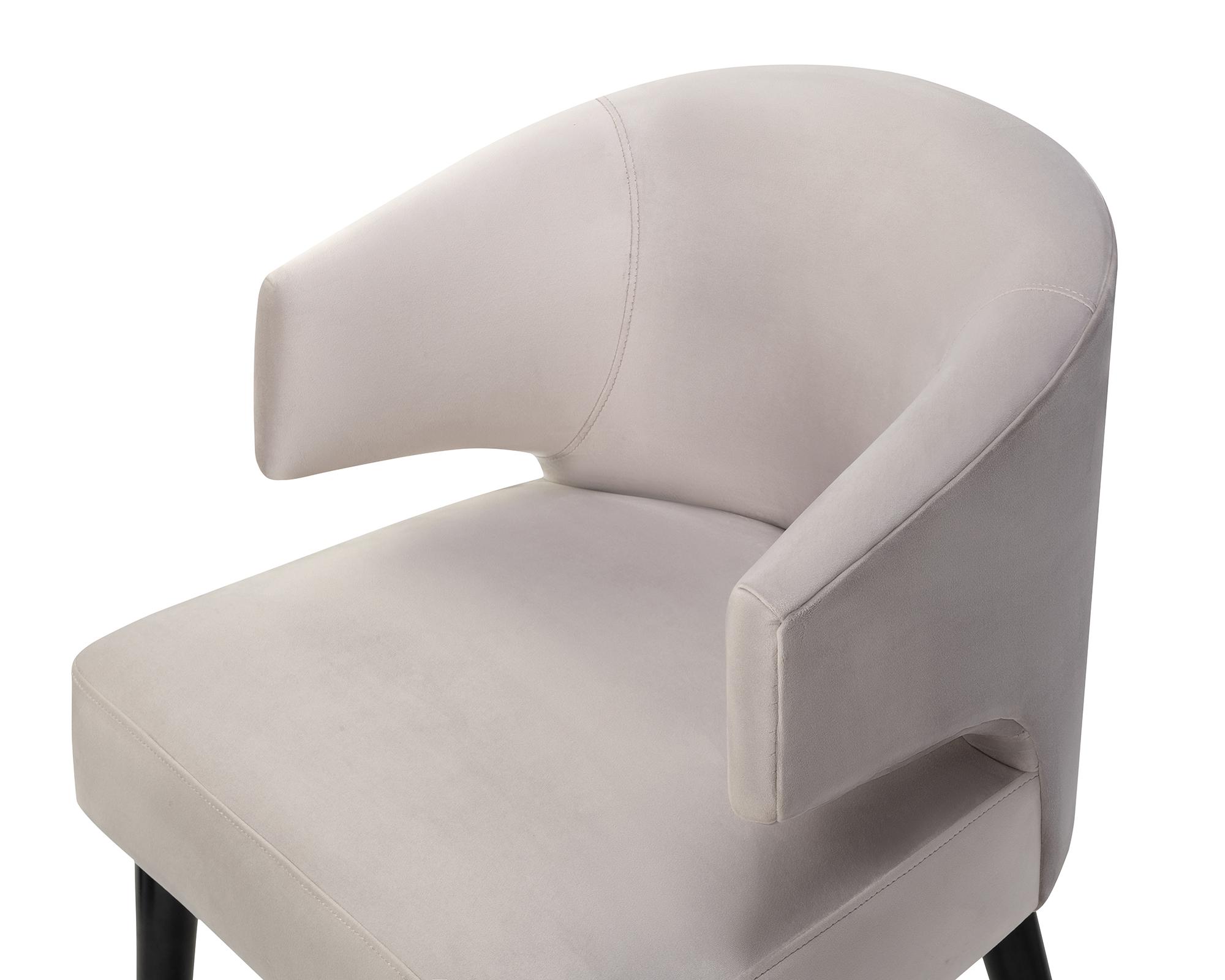 Liang & Eimil Mia Dining Chair Fog Grey Velvet BH-DCH-139 (5)