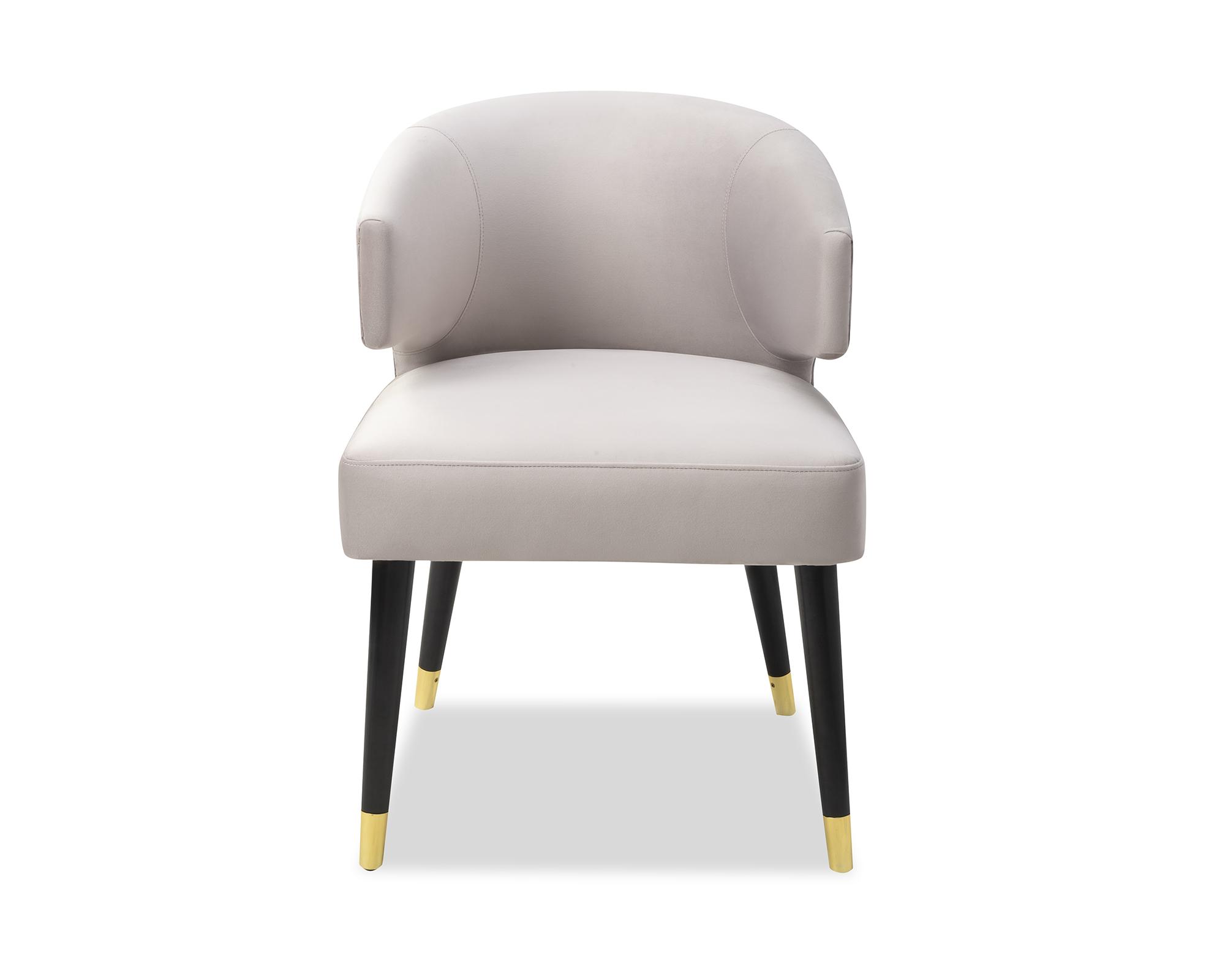Liang & Eimil Mia Dining Chair Fog Grey Velvet BH-DCH-139 (6)