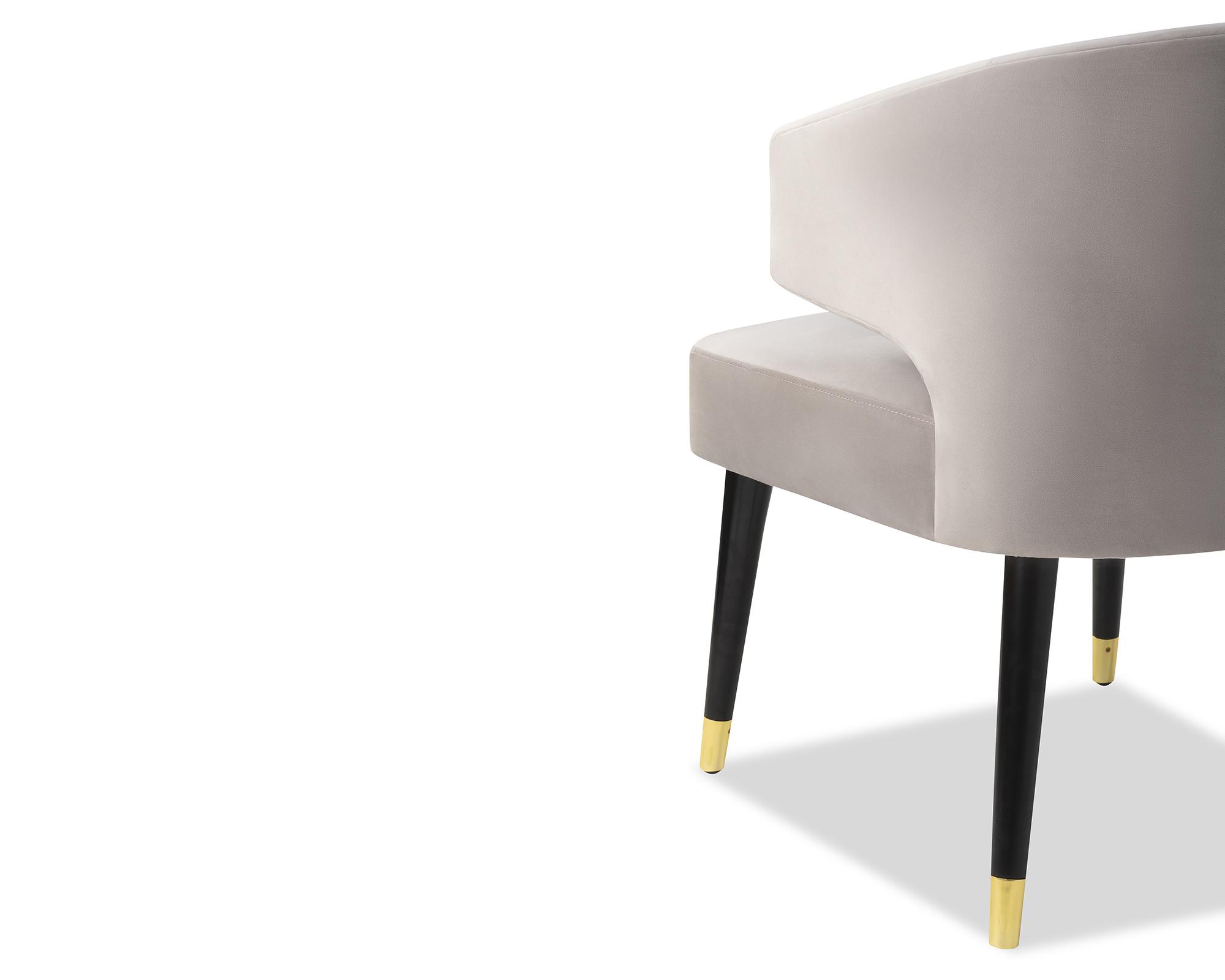 Liang & Eimil Mia Dining Chair Fog Grey Velvet BH-DCH-139 (9)