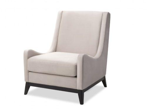 Liang & Eimil Lima Occasional Chair Limestone Velvet