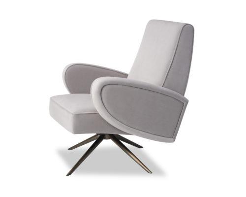 Liang & Eimil Strata Chair Kaster Light Grey Velvet BH-OCH-183 (2)