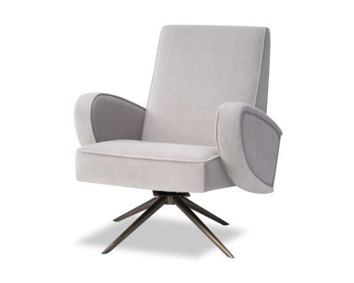 Liang & Eimil Strata Chair Kaster Light Grey Velvet BH-OCH-183