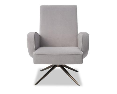 Liang & Eimil Strata Chair Kaster Light Grey Velvet BH-OCH-183 (6)