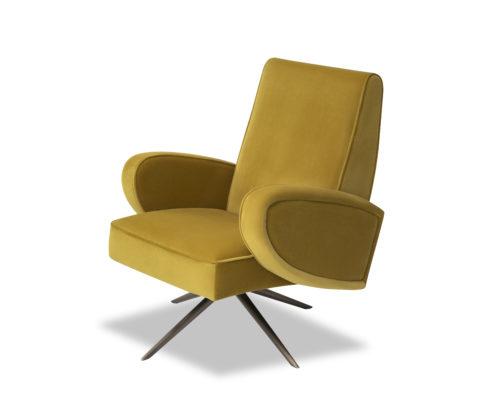 Liang & Eimil Strata Chair Kaster Mustard Velvet BH-OCH-182 (3)