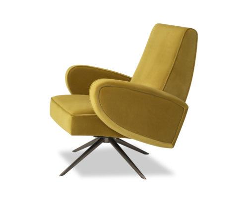 Liang & Eimil Strata Chair Kaster Mustard Velvet BH-OCH-182 (4)