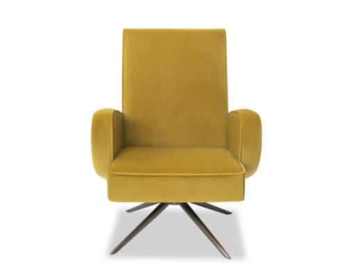 Liang & Eimil Strata Chair Kaster Mustard Velvet BH-OCH-182