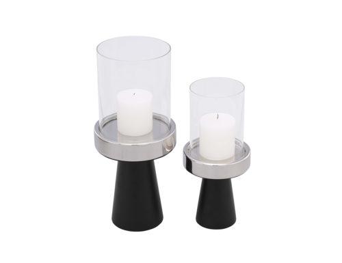 Liang & Eimil Pillar Holder Set of Two Nickel Matt Black IMD-ACSR-018 019