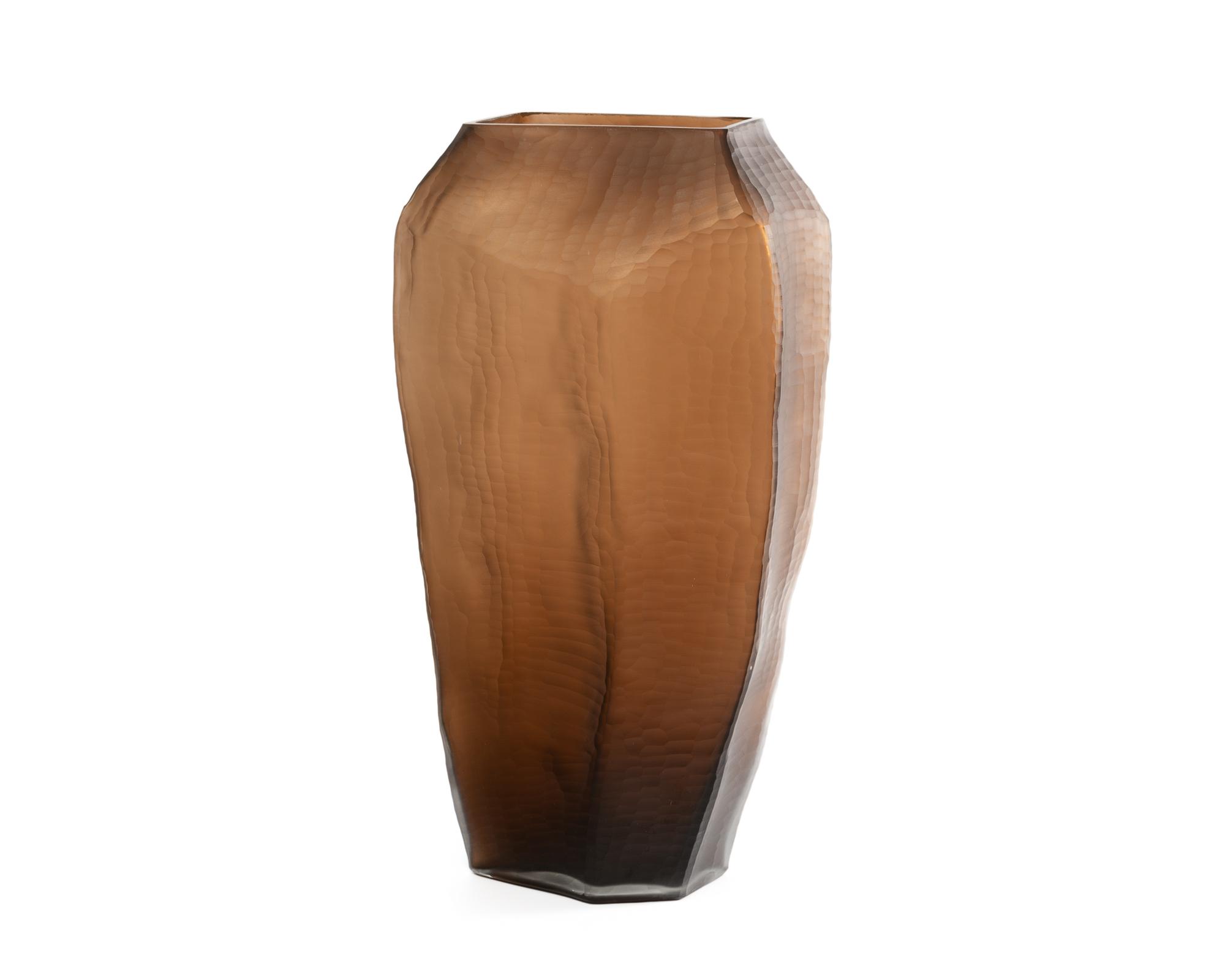 Glass Vase Chocolate DCC-VS-016