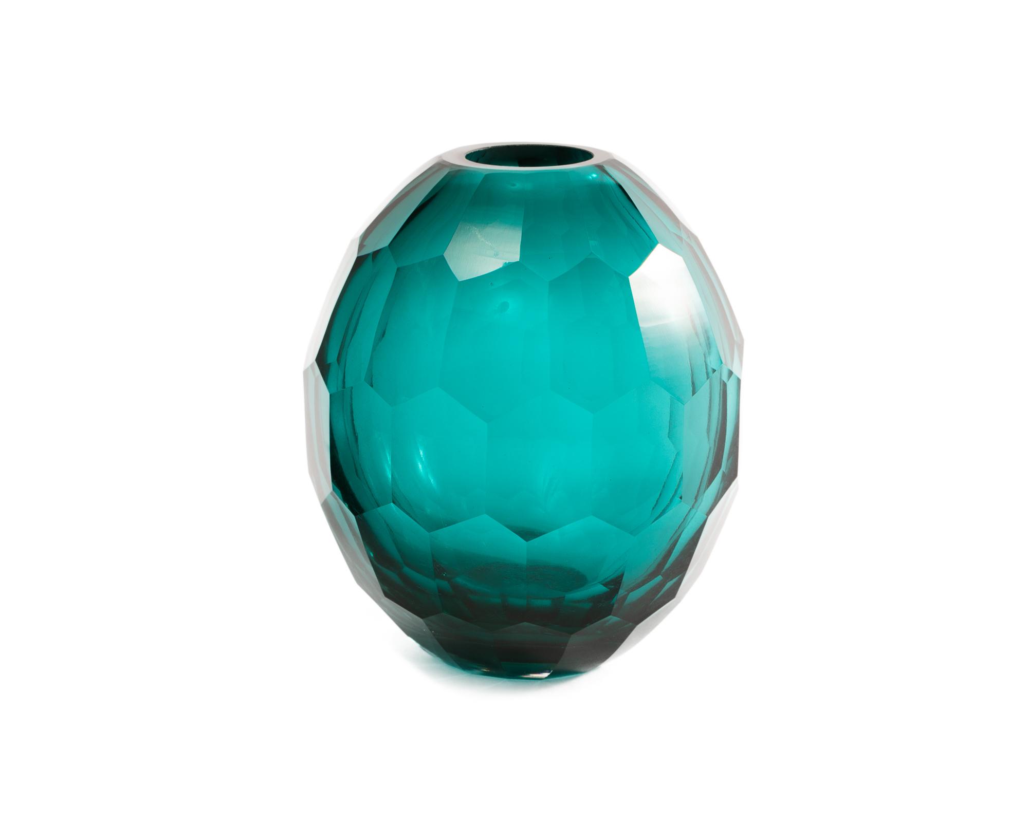 Glass Vase Teal DCC-VS-014