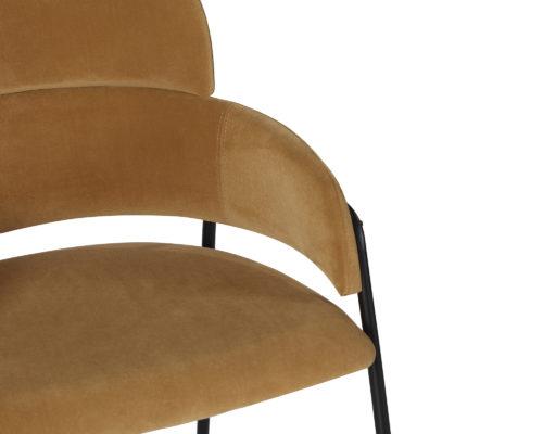 Liang & Eimil Alice Dining Chair Toscana Camel Velvet GV-DCH-061 (5)