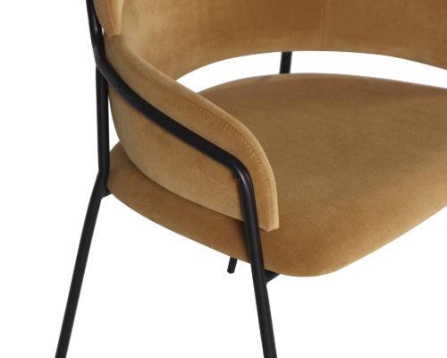 Liang & Eimil Alice Dining Chair Toscana Camel Velvet GV-DCH-061 (6)
