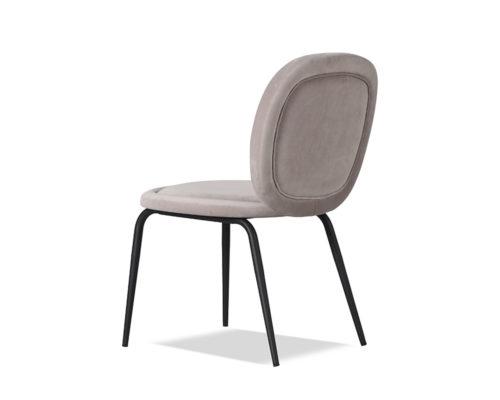 Liang & Eimil Belux Dining Chair Kaster Light Grey Velvet GV-DCH-067 (1)