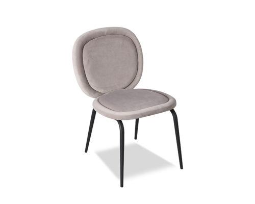 Liang & Eimil Belux Dining Chair Kaster Light Grey Velvet GV-DCH-067 (2)