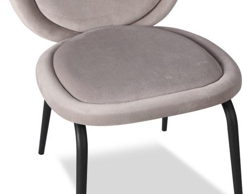Liang & Eimil Belux Dining Chair Kaster Light Grey Velvet GV-DCH-067 (3)