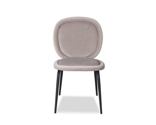 Liang & Eimil Belux Dining Chair Kaster Light Grey Velvet GV-DCH-067 (4)