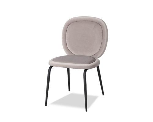 Liang & Eimil Belux Dining Chair Kaster Light Grey Velvet GV-DCH-067 (5)