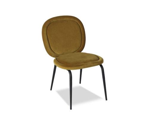 Liang & Eimil Belux Dining Chair Kaster Mustard Velvet GV-DCH-066 (1)