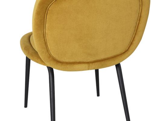 Liang & Eimil Belux Dining Chair Kaster Mustard Velvet GV-DCH-066 (2)
