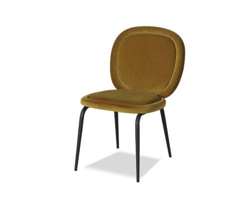 Liang & Eimil Belux Dining Chair Kaster Mustard Velvet GV-DCH-066 (3)
