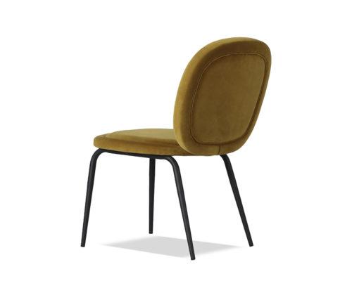 Liang & Eimil Belux Dining Chair Kaster Mustard Velvet GV-DCH-066 (4)