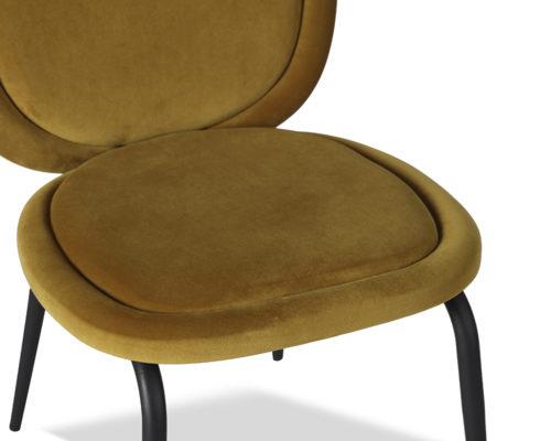 Liang & Eimil Belux Dining Chair Kaster Mustard Velvet GV-DCH-066 (5)
